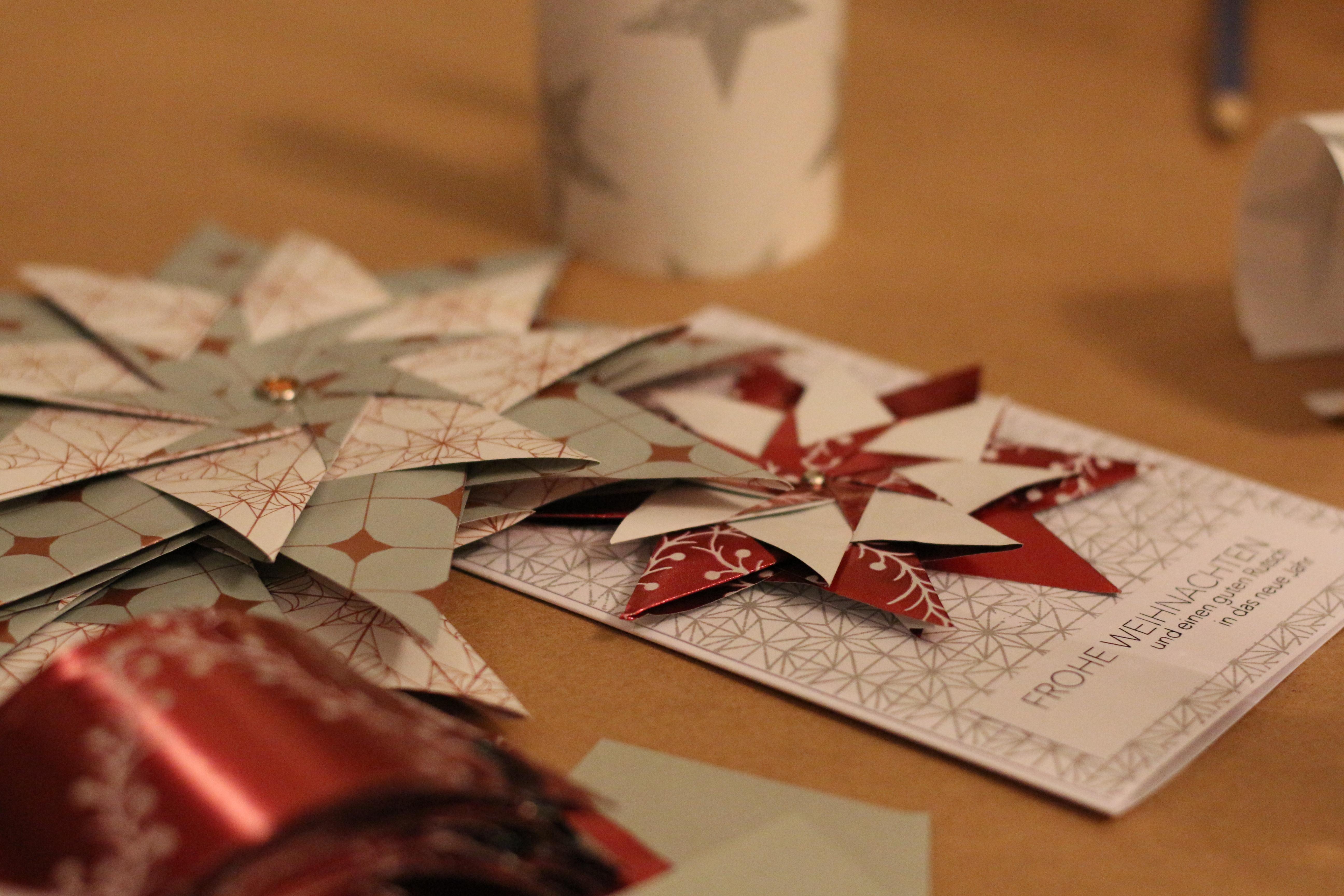 Weihnachtskarten Origami.Blogger Event Weihnachtskarten Basteln